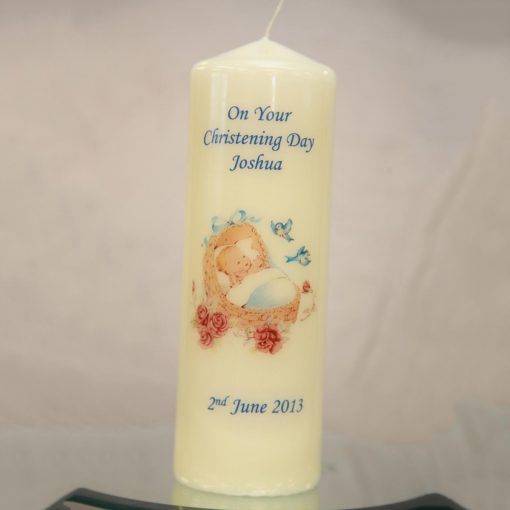 Boys Christening Candle